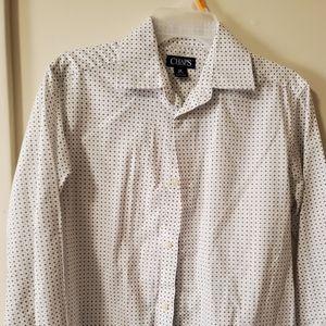 Chaps boys M long sleeved button up dress shirt